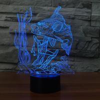 Kreative Angeln 3D Lampe nachtlicht Fernschalter 7 Farbwechsel Innen Lampe Haken Karpfen Schreibtischlampe Für Spielzeug geschenk