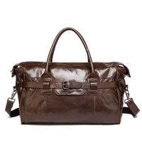 Винтаж европейский и американский Стиль из натуральной кожи Для мужчин путешествия сумки большой емкости багаж сумку Повседневное Для муж