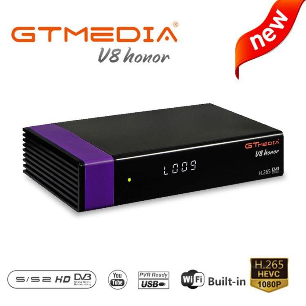 Nouveau récepteur de télévision par Satellite V8 Honor Dvb S2 Wifi intégré Usb2.0 Full HD 1080P Dvb-S2 Tuner Tv Box DvbS2 ligne CCAM intégrée
