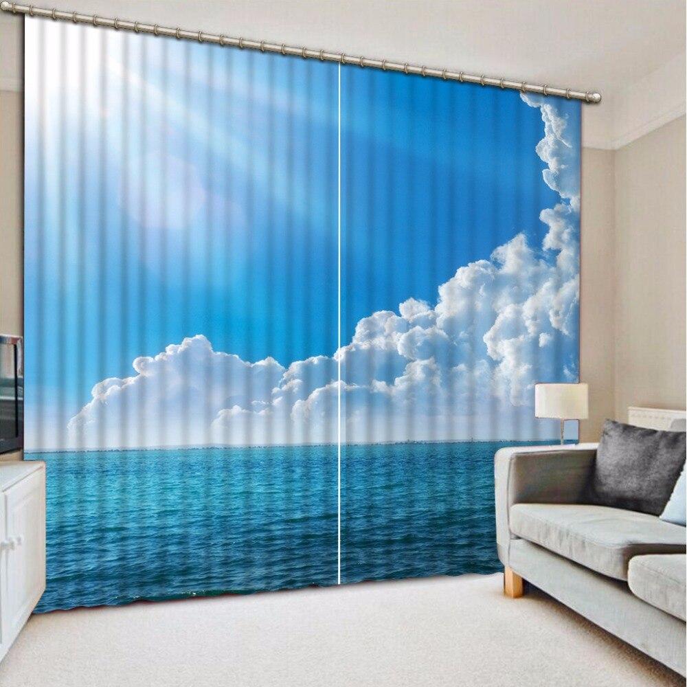 Custom Any Size 3D Curtain Blackout Shade Window Curtains