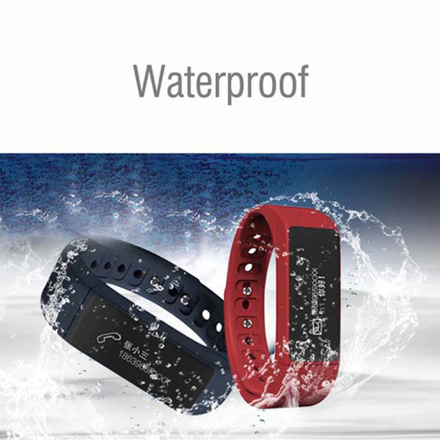 Original Iwown I5 Plus Bluetooth 4.0 Sports Monitor Smart Bracelet IP67 Waterproof OLED Smartband for IOS Android smartphone