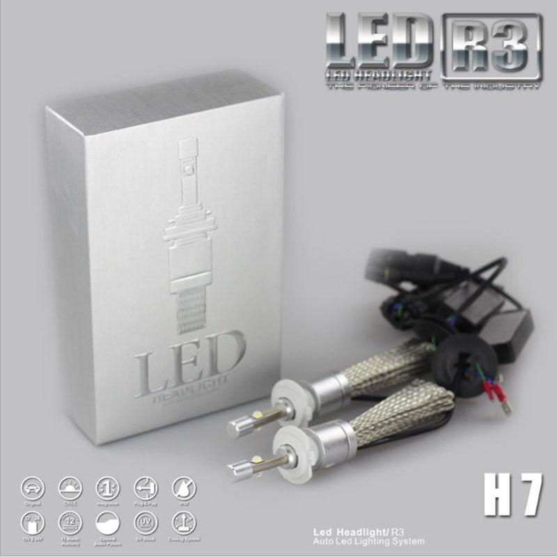 2PCS R3 6000k 9600lm Car LED Headlight XHP50 Kit H1 H3 H4 H7 H9 H11 H13 9005 HB3 9006 HB4 Automobiles Headlamp Fog Lamps White