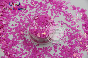 Image 3 - TCT 102 Iridescent Pearlescent colors Glitter Butterfly shape for Nail design nail art and DIY Size:3mm