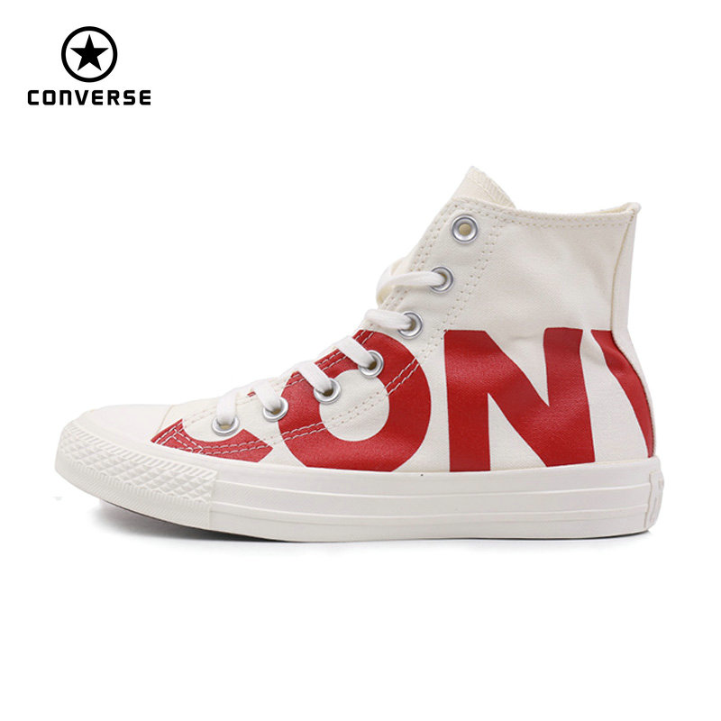 Converse 2018 new Big letters sneakers man and women Unisex black white color Skateboarding Shoes