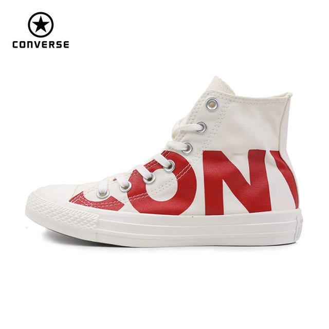 20f27dde Converse 2018 nuevas zapatillas de deporte de letras grandes para hombre y  mujer Unisex de color