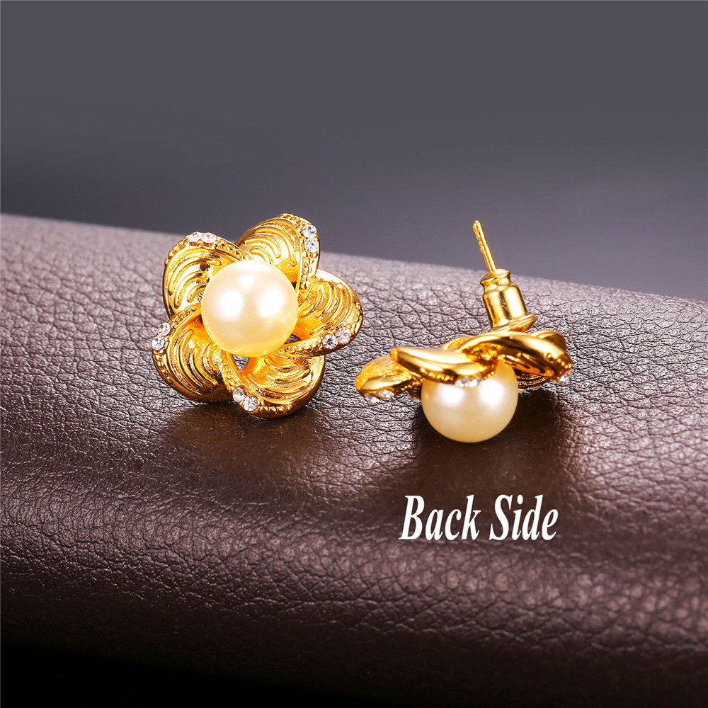 fashion pin earrings matte earing for bricos stud statement women pearl jewelry double trendy pendientes new