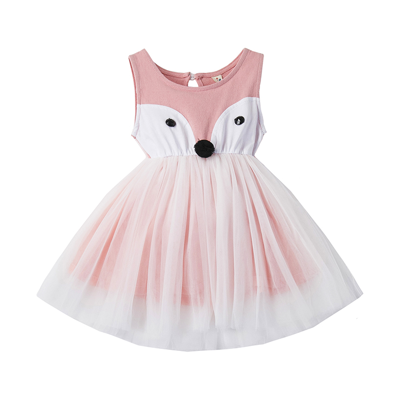Casual girls dress summer Baby princess dresses cute pattern cotton kids clothes children clothing Fox dress for girls clothes baby girls dress summer 2017 brand girls wedding dress cotton princess dress for girls clothes kids dresses children clothing
