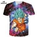 3D Goku/Tshirts Anime Dragon Ball Vegeta Impresso Tees Tops T-shirt Dos Homens T camisas Homens T Ocasional de Super Saiyan camisas, TIO YK