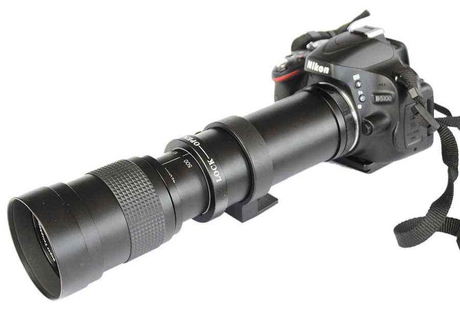 420 800mm F/8.3 16 Telephoto Zoom Manual Lens+ T2 Adapter