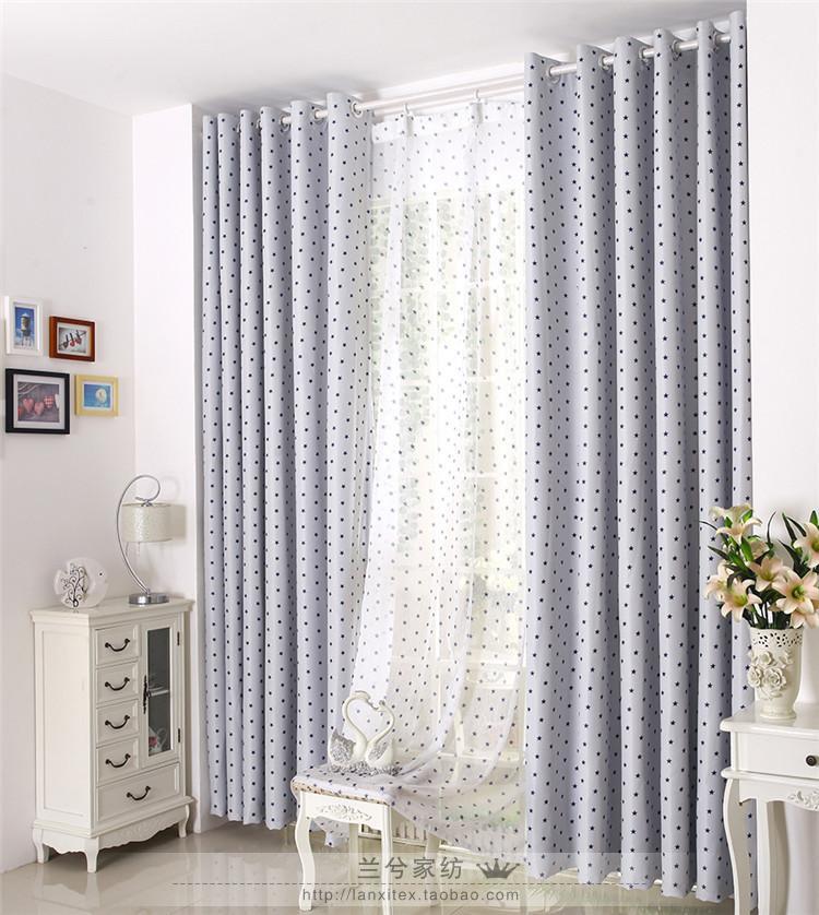 nuevas estrellas dormitorio sala de estar llena de sombra cortinas de tela cortinas stars bule cortinas