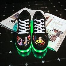 Graffiti LED light up luminous sneakers usb rechargeable