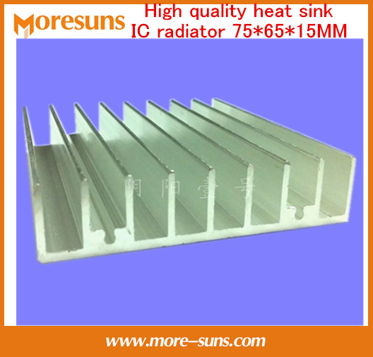 Fast Free Ship 2pcs/lot Heatsink for IC LED Electronic Chipset heat dissipation/IC radiator 75*65*15MM aluminum heatsink