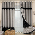 High Quality Finished Curtains Fabric Stripe Drapes Curtain Blackout Curtains For Bedroom Kitchen Curtains For Living Room