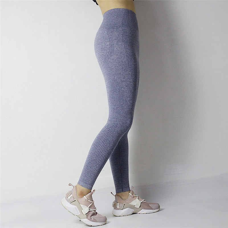 581e0eb5fa0a73 ... Monster Fitness 2018 Gym Tights Tummy Control Yoga Pants High Waisted  Sport Ombre Seamless Leggings Running ...