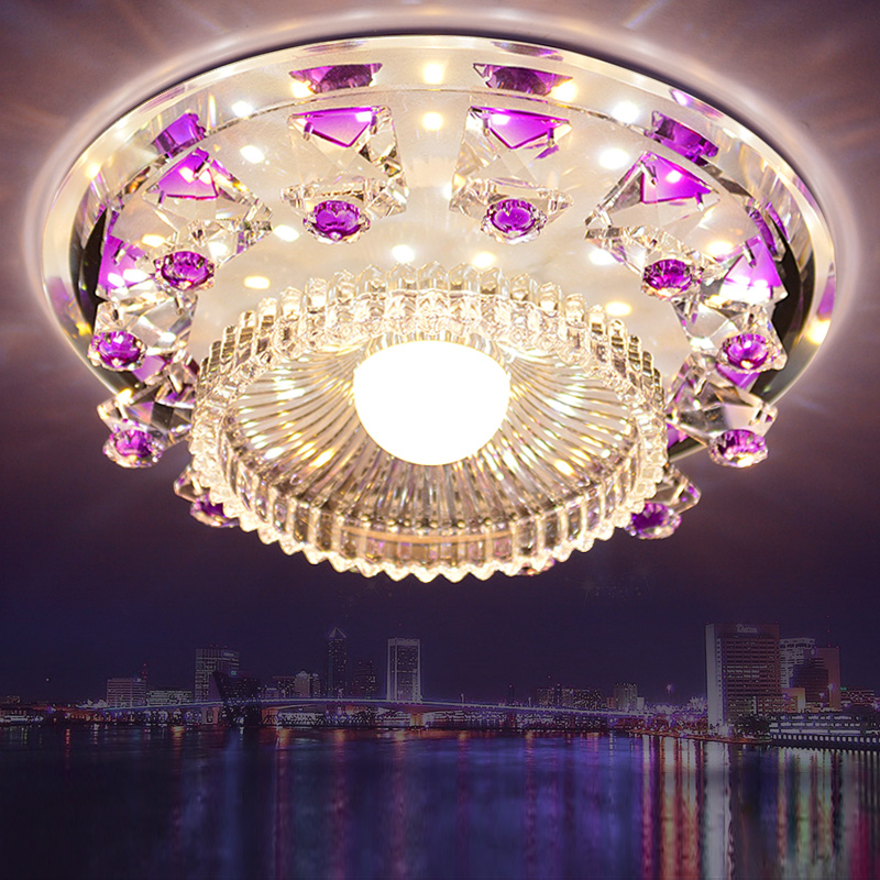 ФОТО 15W  crystal ceiling light modern lamp for dinning aisle porch balcony living room lamps