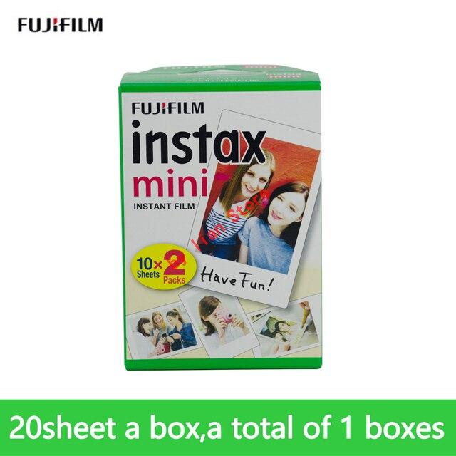 Fujifilm Instax mini película Original para cámara, papel fotográfico instantáneo de 20 hojas, para Mini8, 9, 7s, 25, 50s