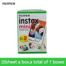 Original fujifilm Instax Mini8 Weiß mini film 20 Blatt Instant Foto Papier Für Mini8 9 7s 25 50s foto Papier Kamera film