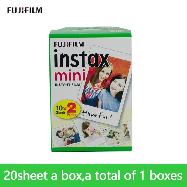 Original fujifilm Instax Mini8 White mini film 20 Sheet Instant Photo Paper For Mini8 9 7s 25 50s Photo Paper Camera film