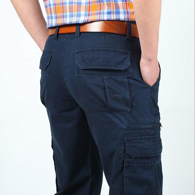 6bb63fc83636f4 Брюки мужские брюки карго новые дизайнерские брюки однотонные прямые брюки  военные мульти-штаны карго с