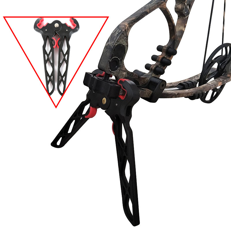 Hunting Compound Bow Arrow Stand Holder Kick Stand Racks Archery Lightweight Racks Compound Bow Target Bow Holder For Camping0.2