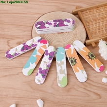 Mini Pro Nail Files Cute Round Double Sided Grit Art Tips Tools Manicure