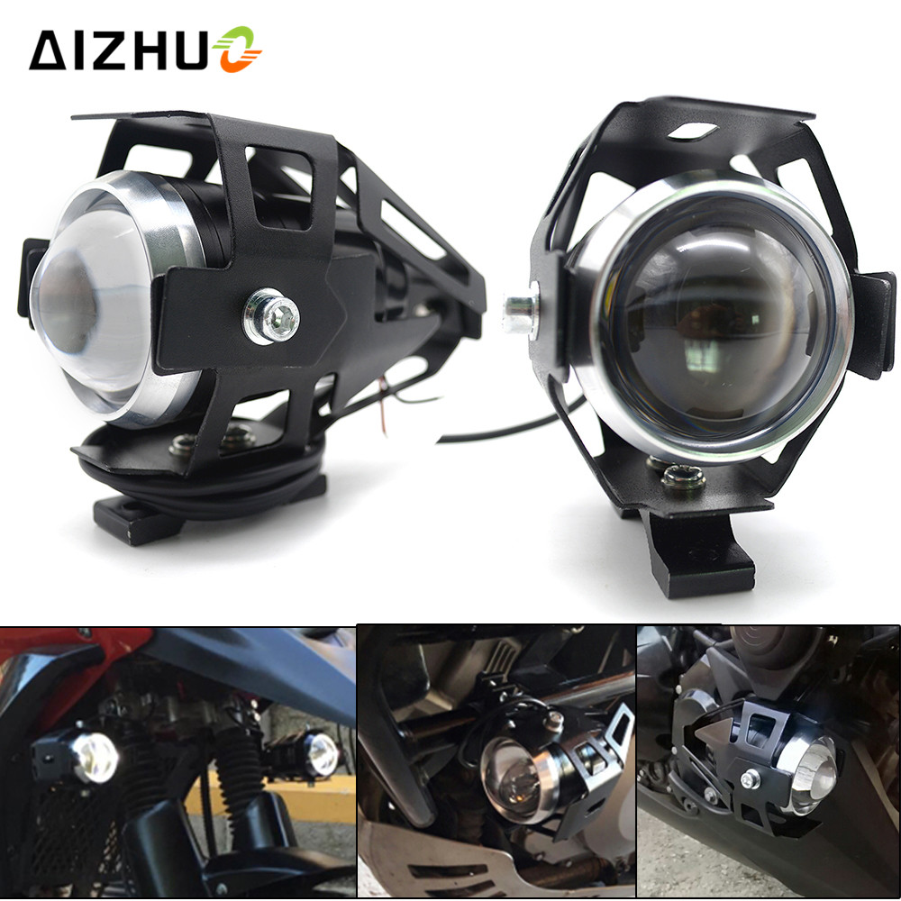 12V U5 <font><b>LED</b></font> Transform Spotlight Motorcycle <font><b>Headlight</b></font> Universal for KAWASAKI Z750 Z900 Z800 ER6N versys 650 Z1000 <font><b>ninja</b></font> <font><b>300</b></font> ER6F image