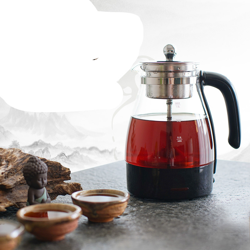 Electric kettle Black tea boiled ware heating full automatic glass teapot steam curing pot electric cooking Overheat Protection curing pot tisanes of the multifunctional automatic thickening glass boiled tea electric cooking pot electric water ket