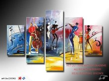 hand-painted artwork The Music festival carnivals High Q. Wall Decor Landscape Oil Painting on canvas 5pcs/set mixorde Framed