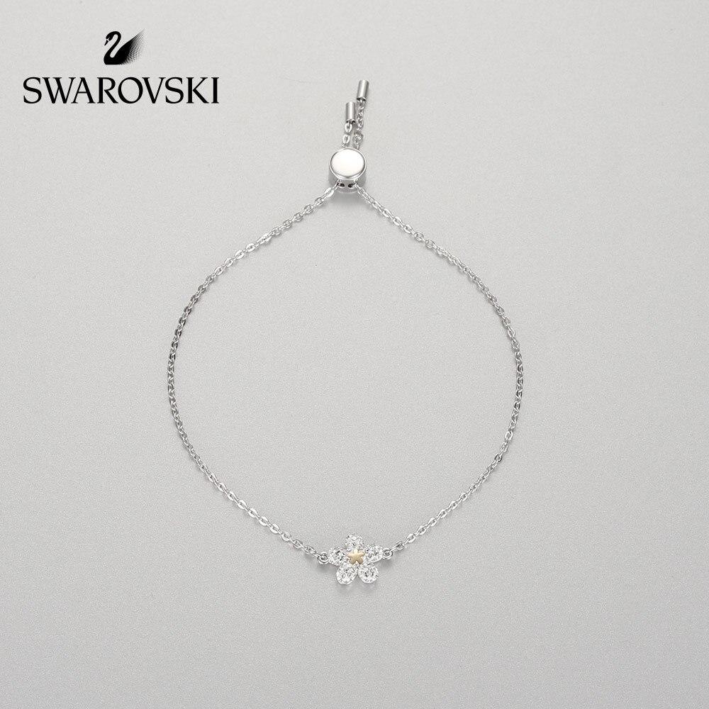 Original Genuine Swarovski DURO fiori Freschi regolabile braccialetto femminile gioielli delle donne braccialetto di cristallo 5397483-2Original Genuine Swarovski DURO fiori Freschi regolabile braccialetto femminile gioielli delle donne braccialetto di cristallo 5397483-2