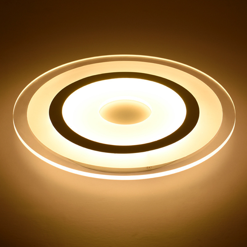 Modern led ceiling light lamp round with acrylic lampshade for living room bedroom,dining room decoration 220V lighting fixtures creative star moon lampshade ceiling light 85 265v 24w led child baby room ceiling lamps foyer bedroom decoration lights
