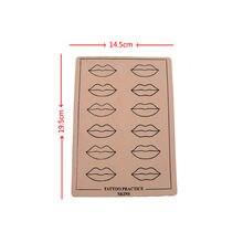 5 шт 195*145 см лист для практики татуировки губ