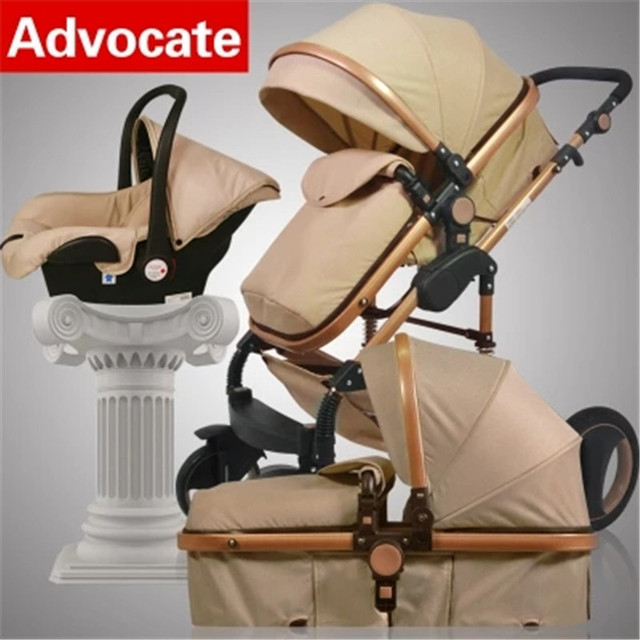 2018 High Landscape Luxury 3 In 1 Baby Stroller Trolley Car Seat Infant Carriage