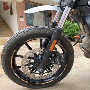Image 4 - Motorfiets Spatborden Handmadc aluminium Front Fcndcr Whccl Extcnsion Spatbord Voor Ducati Scrambler