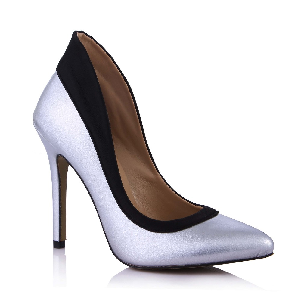 Big Size 35-43 New Fashion Patent Leather Sexy Pointed Toe Women Pumps Slip-on Patchwork High Heels Ladies Wedding Party Shoes big size sale 34 43 new fashion sexy pointed toe women pumps spring summer autumn high heels ladies wedding party shoes 6629