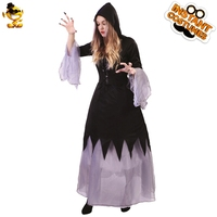 DSPLAY Halloween Madame Scarlet Sexy Party Costume Carnival New Style Scary Classic Fancy Dress Cosplay Woman Witch Outfits