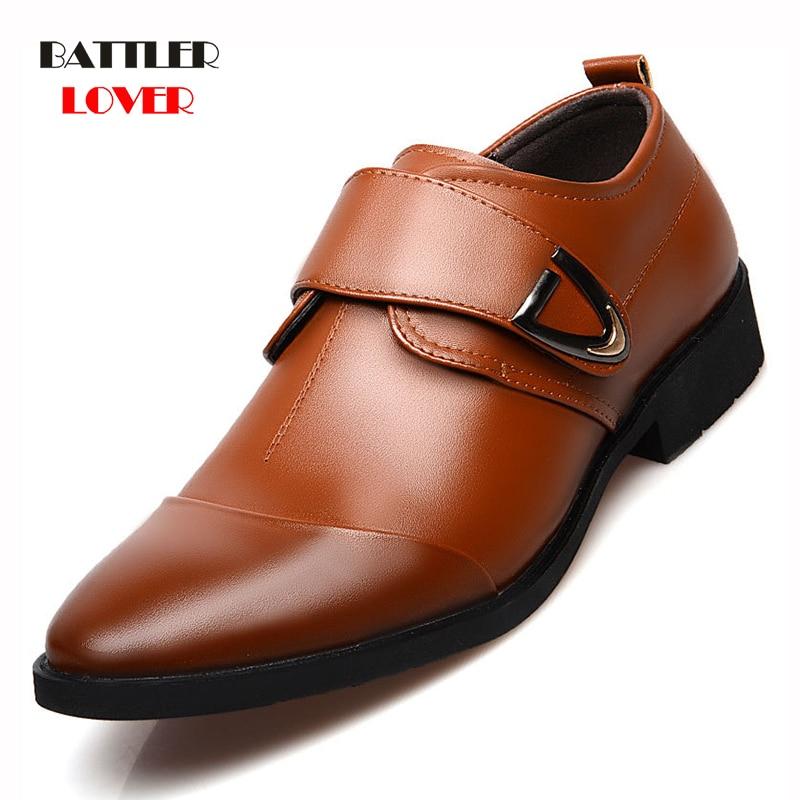 2018 loafers men shoes wedding oxfords formal shoes men mens dress shoes schuhe herren sapato masculino social monk strap loafer