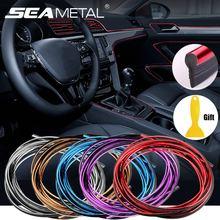 5 メートル/3 メートル/1 メートルの車のシールアクセサリースタイリングオートカーインテリアエクステリア装飾ドアストリップダッシュボードエッジユニバーサル自動クローム