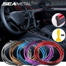 5M/3M/1M Car Seal Accessories Styling Interior Exterior Decoration Door Strip Moulding Trim Dashboard Edge Universal Auto Chrome