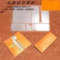 DIY long women men money wallet credit card holder leather craft purse wallet sewing pattern template 1set