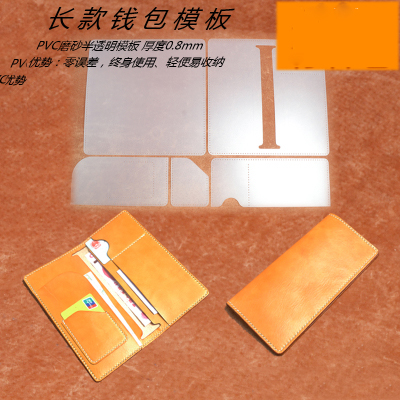 DIY long women men money wallet credit card holder leather ...