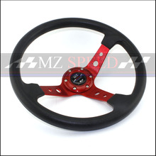 MZ-SPEED 14 (350mm) Racing Steering Wheel PU Red Blue Black