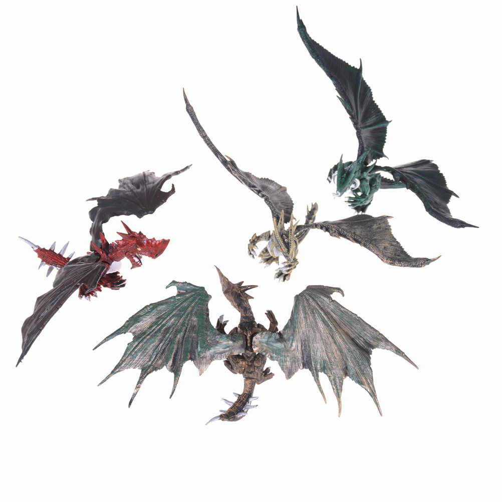 1pcs DIY Assembling Dragons With Wings Dinosaur Action Figures Educational Toy For Children Baby Gifts Classic Toys Randomly