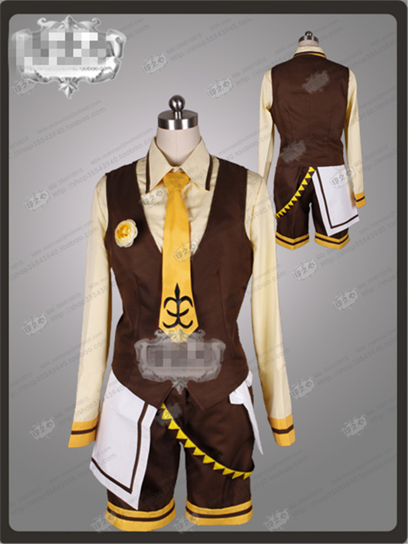 2017 New Clothes Anime Customize VOCALOID Lolita Kagamine Rin Maid Clothes for male cosplay costume  with free shipping