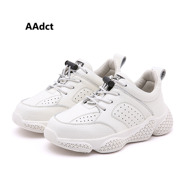 AAdct 2019 spring Genuine Leather girls shoes new running sports children casual shoes Brand little kids shoes for boys sneakers