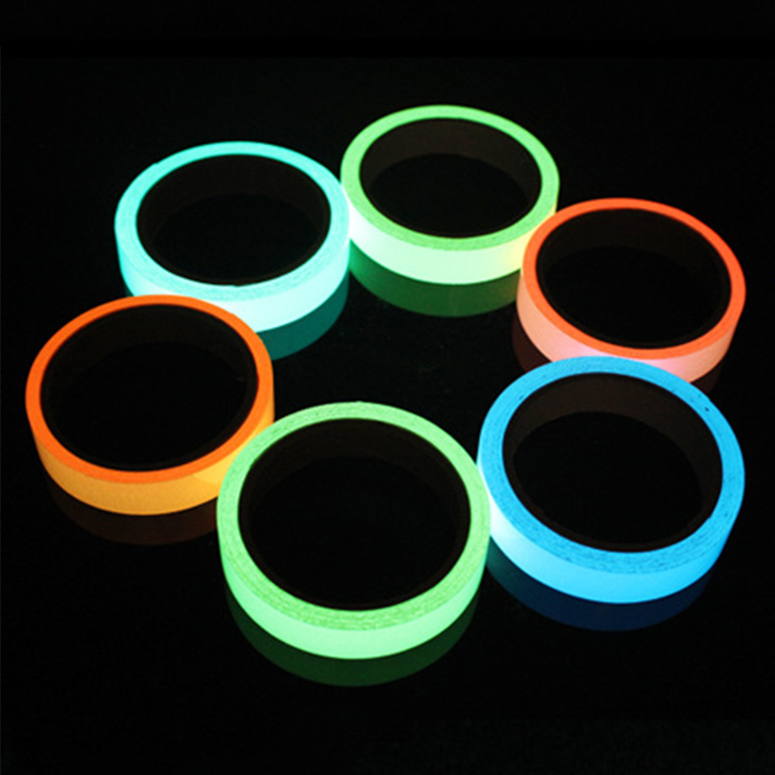 Adaptable Hot Sales Colorful Reflective Tapes Glow Self-adhesive Sticker Luminous Fluorescent Glowing Tapes Dark Striking Warning Tape Back To Search Resultssecurity & Protection