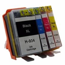 цена на 1 Set 4 Pk Ink Cartridges For HP 934 935 XL 934XL 935XL HP934 HP934XL Officejet Pro 6812 6830 6815 6835 6230 Inkjet Printer