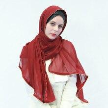 20pcs/lot Metal Zipper Scarf Instant Hijabs Bubble Chiffon Muslim Hijab Headwraps Headwrap Muslim Islamic Hijabs Head Coverings