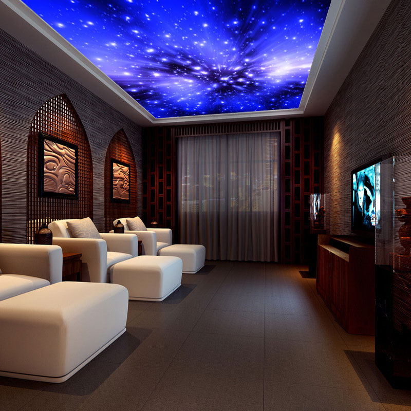galaxy background living wall ceiling 3d mural universe sky decor starry furred individuality lights wallpapers customized aliexpress