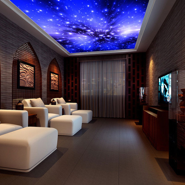 Universe Starry Sky Furred Ceiling 3d Wallpaper Galaxy