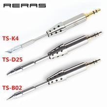 TS K4 TS D25 TS B02 TS J02 Original Soldering หัว TS80 REPLACEMENT SOLDER TIP TS K4 D25 B02 สำหรับ TS80 บัดกรีชุดเครื่องมือชุดเครื่องมือ